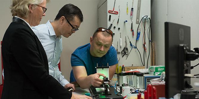 Ximedica Los Gatos employees testing a medical device prototype